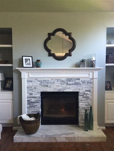 Fireplace tile, fireplace stone, Refaced fireplace Face